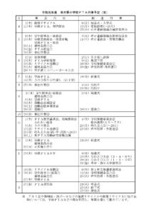 平成31年度 串木野小学校PTA行事予定