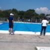 5.6年生による校内水泳記録会